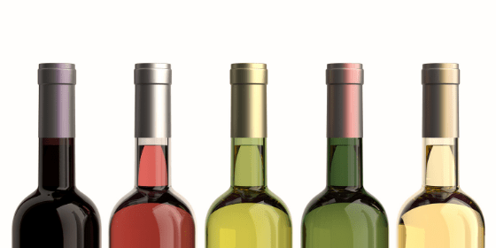 Colorful bottles of wine - complete history of wine